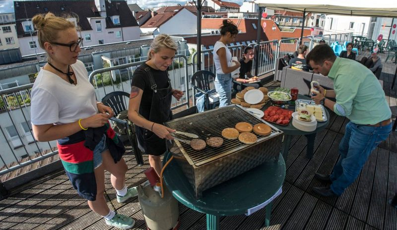 Grillen auf der Dachterrasse - Krach auf´m Dach 2017